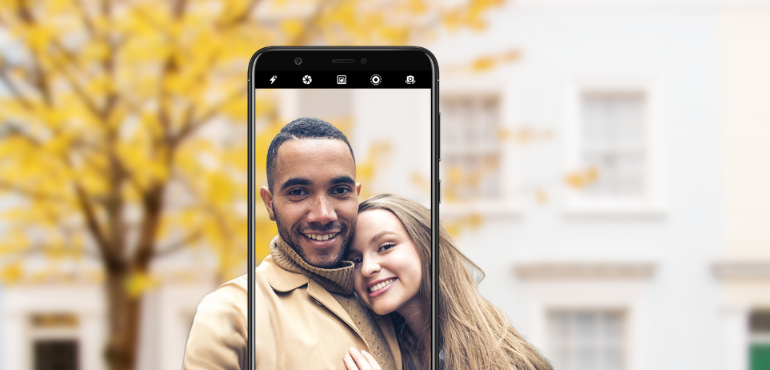Huawei P smart hero size camera bokeh portrait mode