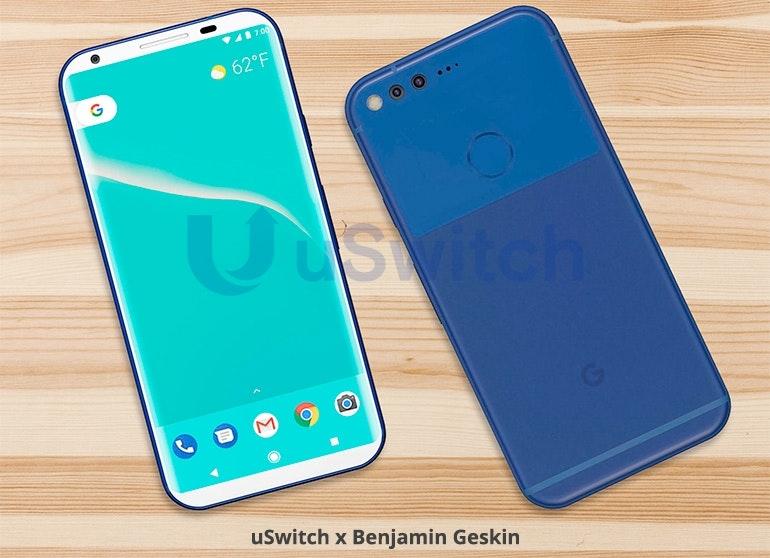 Google Pixel 2 all-screen front