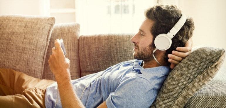 Man with headphones lifestyle image