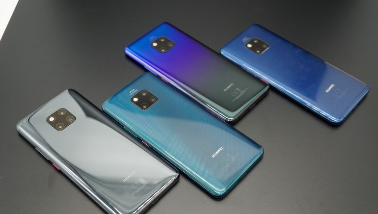 Huawei Mate 20 colours group