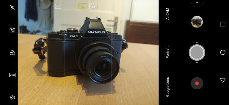 LG G7 ThinQ camera interface