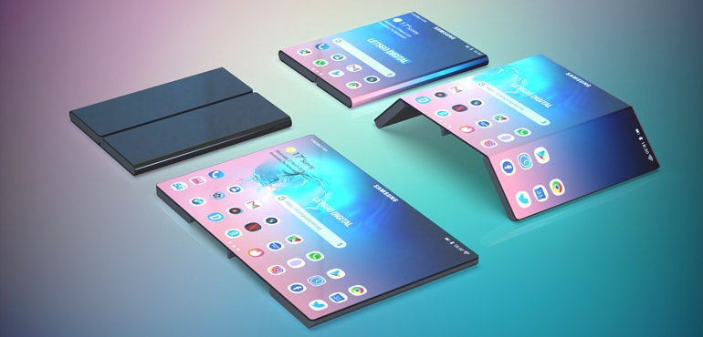 Samsung Galaxy Note 10 render foldable hero