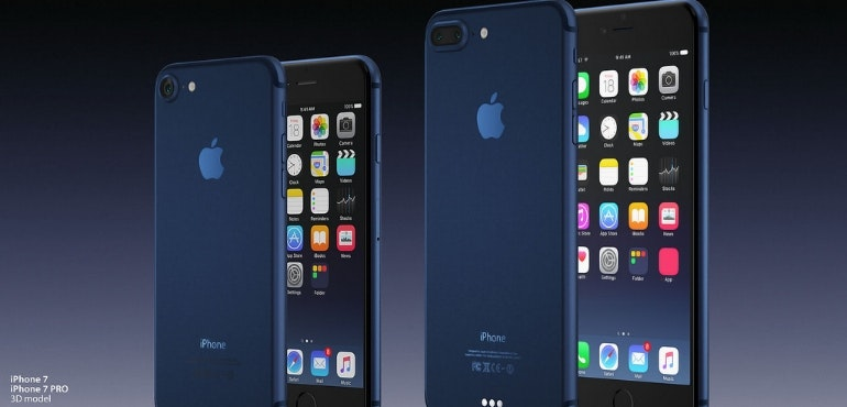 iphone 7 dark blue render