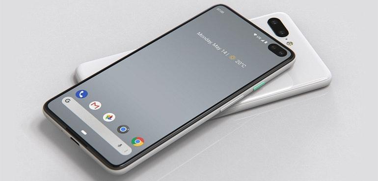 Google Pixel 4 render phone designer