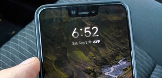 Pixel 3 XL left in back of cab
