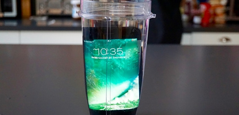 iPhone 7 jug of water