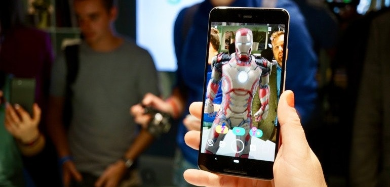Google Pixel 3 XL AR sticker Ironman hero size