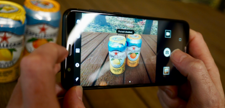 Huawei P smart camera portrait mode drinks cans