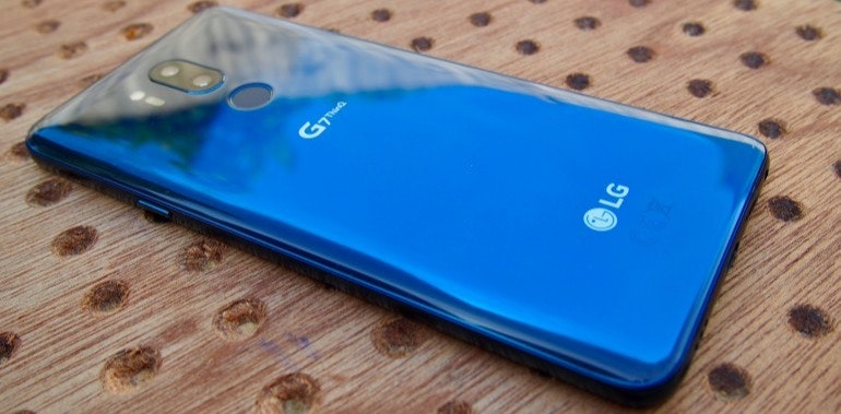 LG G7 ThinQ Moroccan Blue back