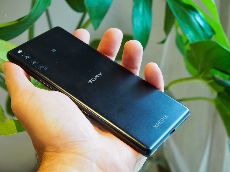 Sony Xperia L4 back in hand