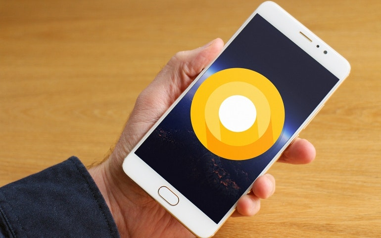 Android O on a phone