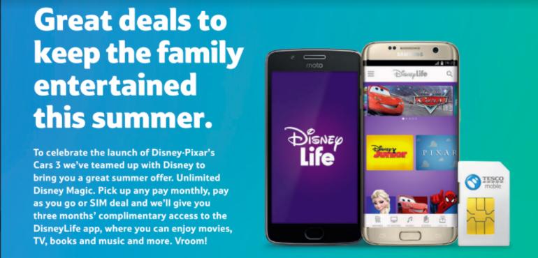 DisneyLife Tesco Mobile hero image promotional official shot