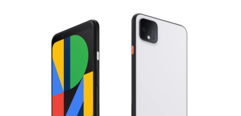Google Pixel 4 front and back hero size
