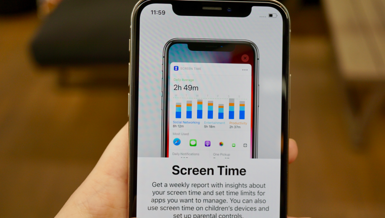iPhone XS screen time explainer
