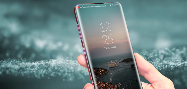 Samsung Galaxy S10 concept hero size in hand