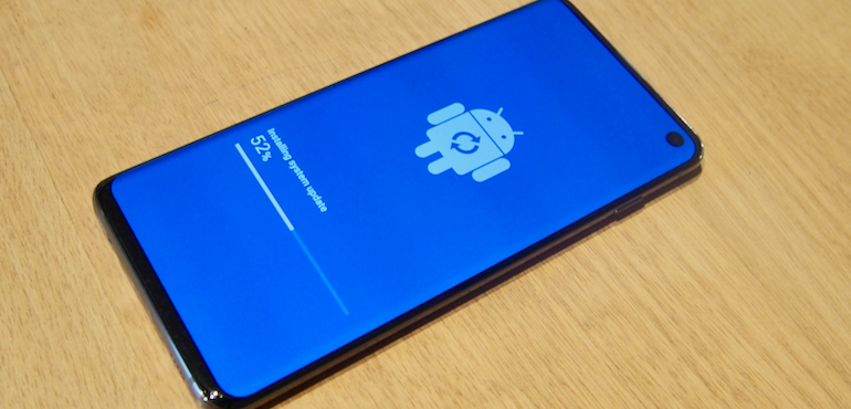 S10 Android update screen