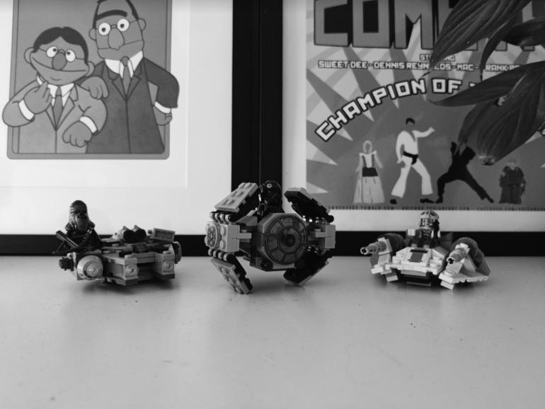 OnePlus 8T camera sample Lego black and white