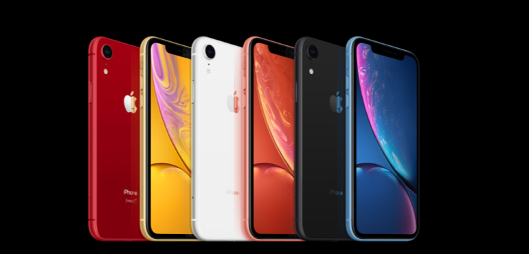 iPhone XR all colourways hero size