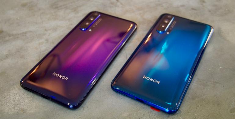 Honor 20 Pro purple blue herp