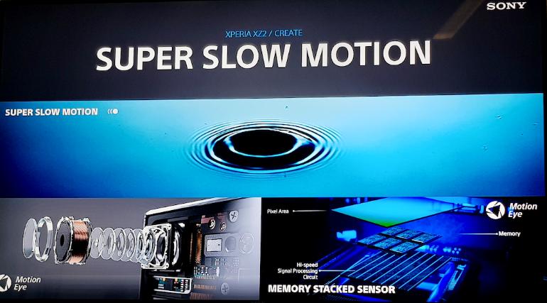 Sony Xperia XZ2 super slow motion camera