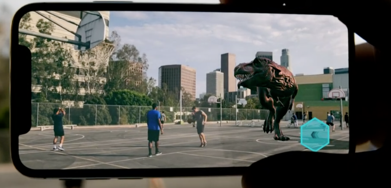 iPhone X augmented reality camera hero image