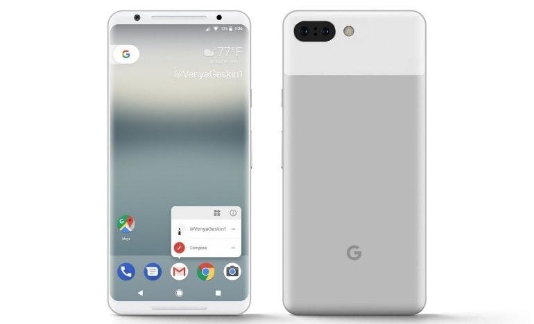 Google Pixel 3 concept image