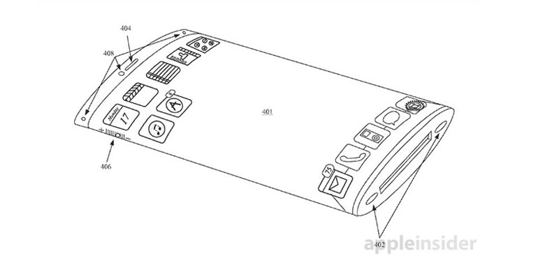 iphone curved screen patent