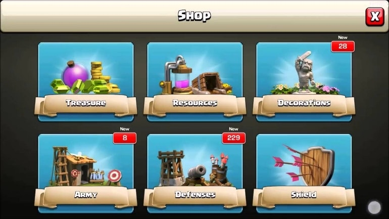 in app purchases clash of clans