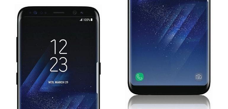 Samsung Galaxy S8 top and bottom hero