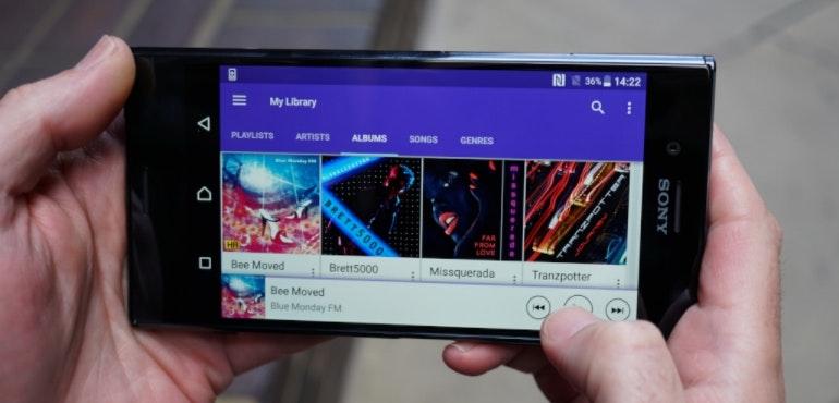 Sony Xperia XZ Premium music player hero size