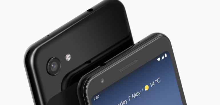 Google Pixel 3a XL front and back hero