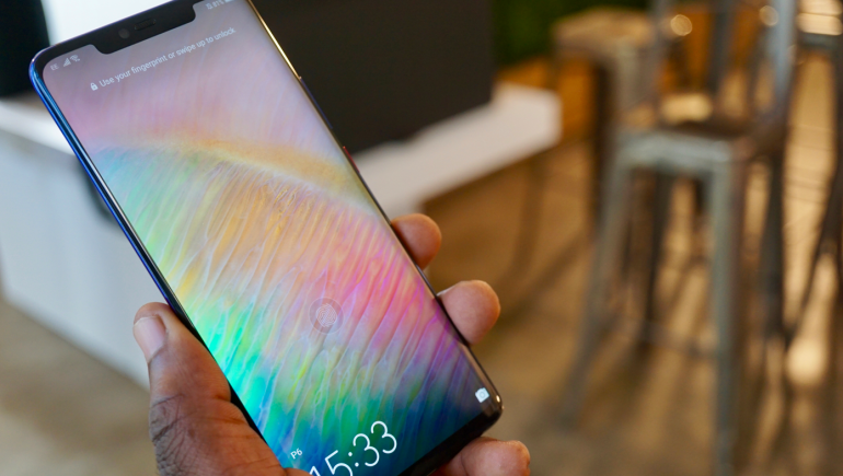 Huawei Mate 20 Pro in screen fingerprint scanner unlock