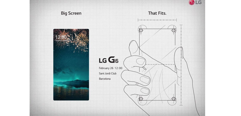 LG G6 launch invite confirms edge-to-edge screen and Feb 26th due date