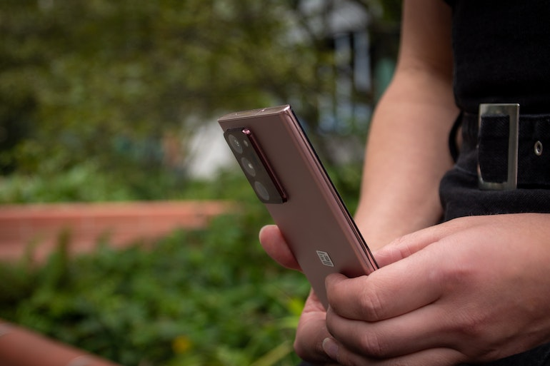 using the Samsung Galaxy Note 20 Ultra
