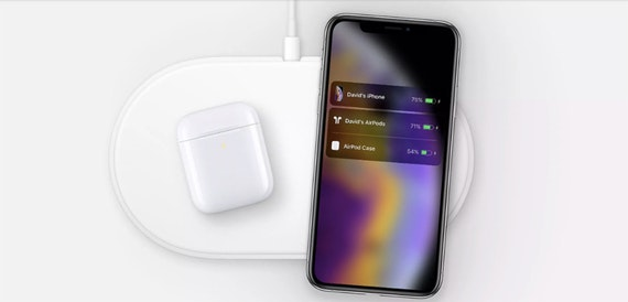 Apple shows off iPhone XS being charged using AirPower mat