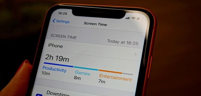 iPhone XR ScreenTime