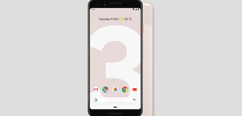 Google Pixel 3 pink front and back hero size