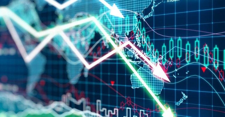 Economic crisis crash
