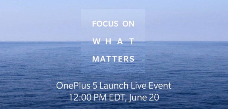 OnePlus 5 launch live