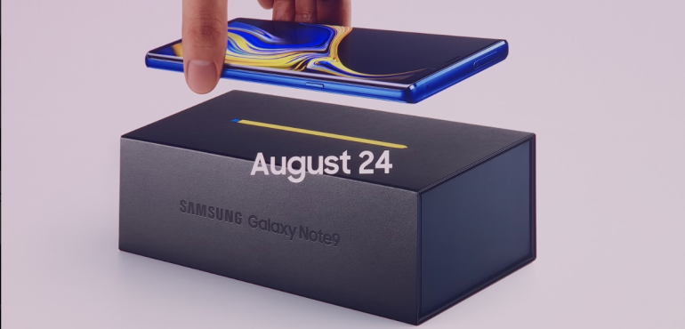Samsung Galaxy Note 9 priced from £899, on sale 24th August