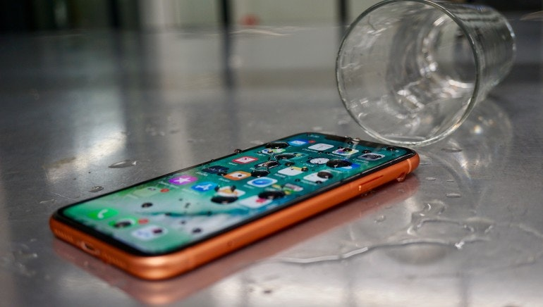 iPhone XR water-resistance