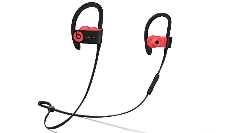 powerbeats3 red wireless earphones
