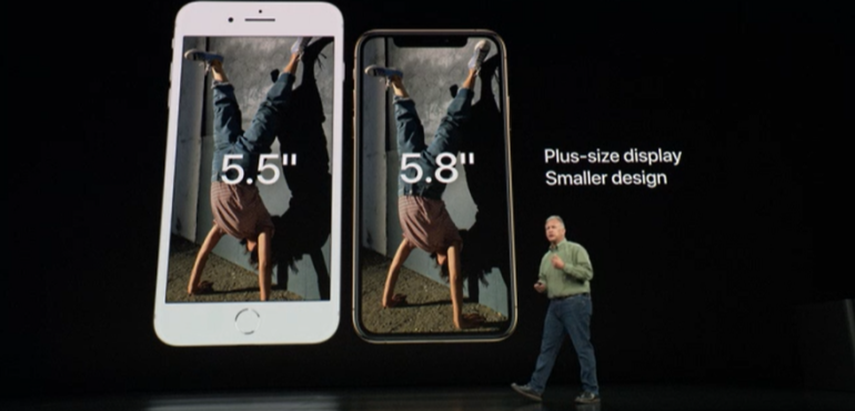 iPhone xs and xs max hero size