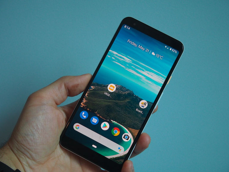 Google Pixel 3a XL simple screen