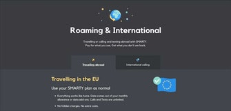 Smarty now offers roaming and international services