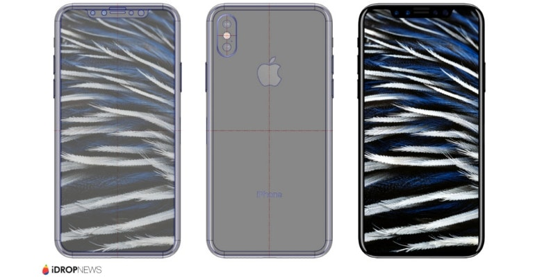 iPhone 8 geskin renders back stripes