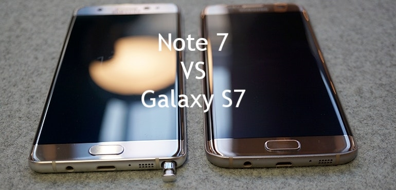 Samsung Galaxy Note 7 vs S7 hero