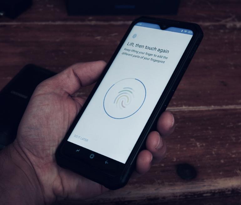 Doogee S95 Pro fingerprint