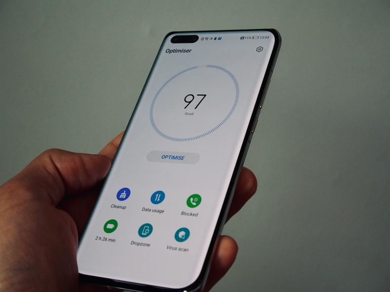 Huawei P40Pro+ battery management