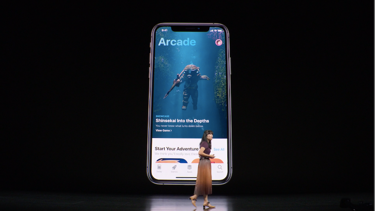 Apple iPhone 11 launch - apple arcade demo2